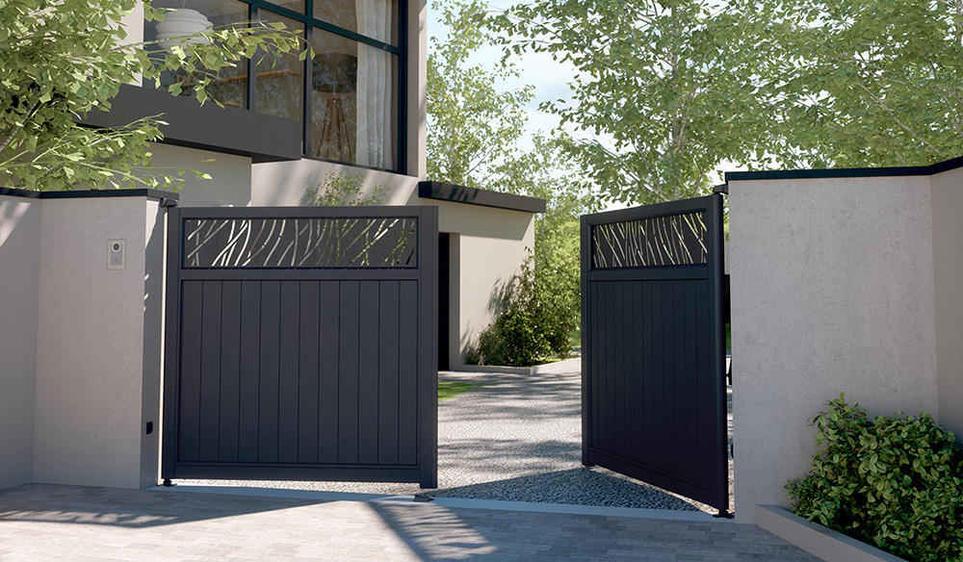 portail sur mesure aluminium cloture sur mesure alu. Black Bedroom Furniture Sets. Home Design Ideas