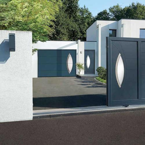 portail aluminium sur mesure Horizal, portail contemporain