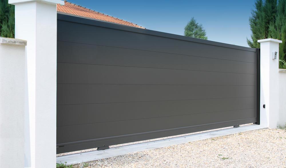 Portail aluminium sur mesure horizal portail contemporain for Portail exterieur sur mesure