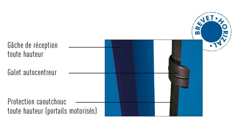 Portail coulissant aluminium sur mesure portail - Gache de reception portail coulissant ...