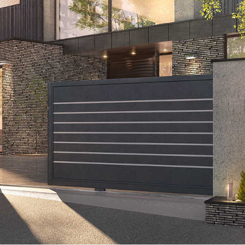 portail moderne aluminium battant portail coulissant moderne. Black Bedroom Furniture Sets. Home Design Ideas